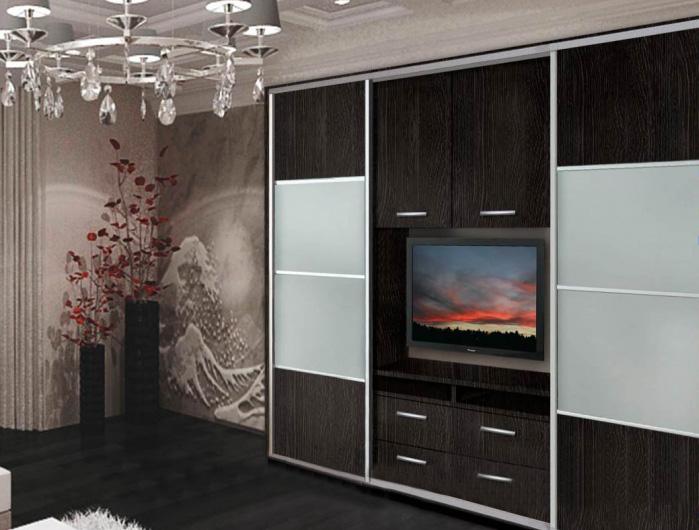 Шкафы купе под телевизор фото